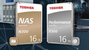 Toshiba X300 und N300: 16 TB Speicherplatz bald auch für Desktop-PCs und NAS