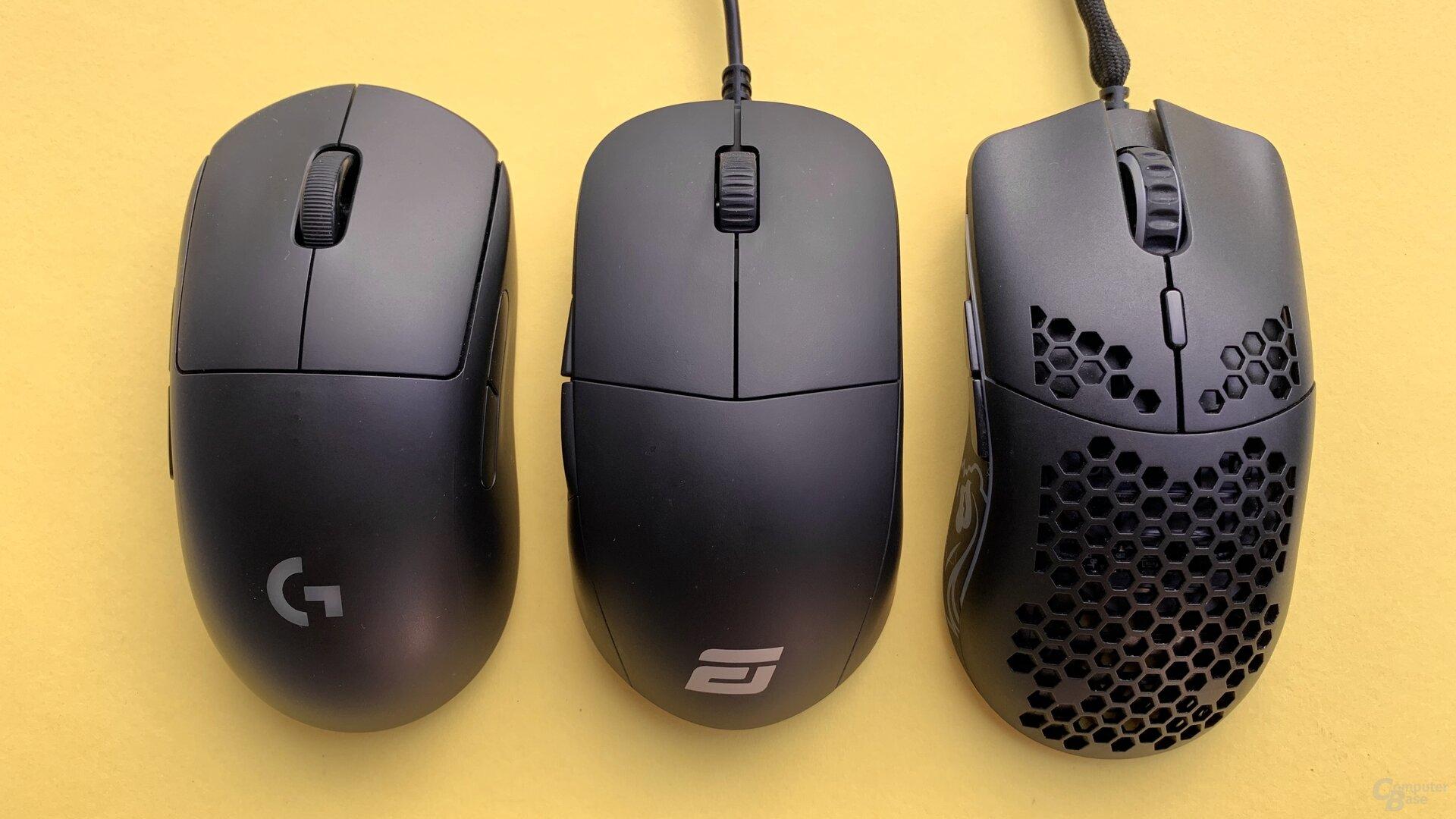 Logitech G Pro Wireless, Endgame Gear XM1 & Glorious Model O