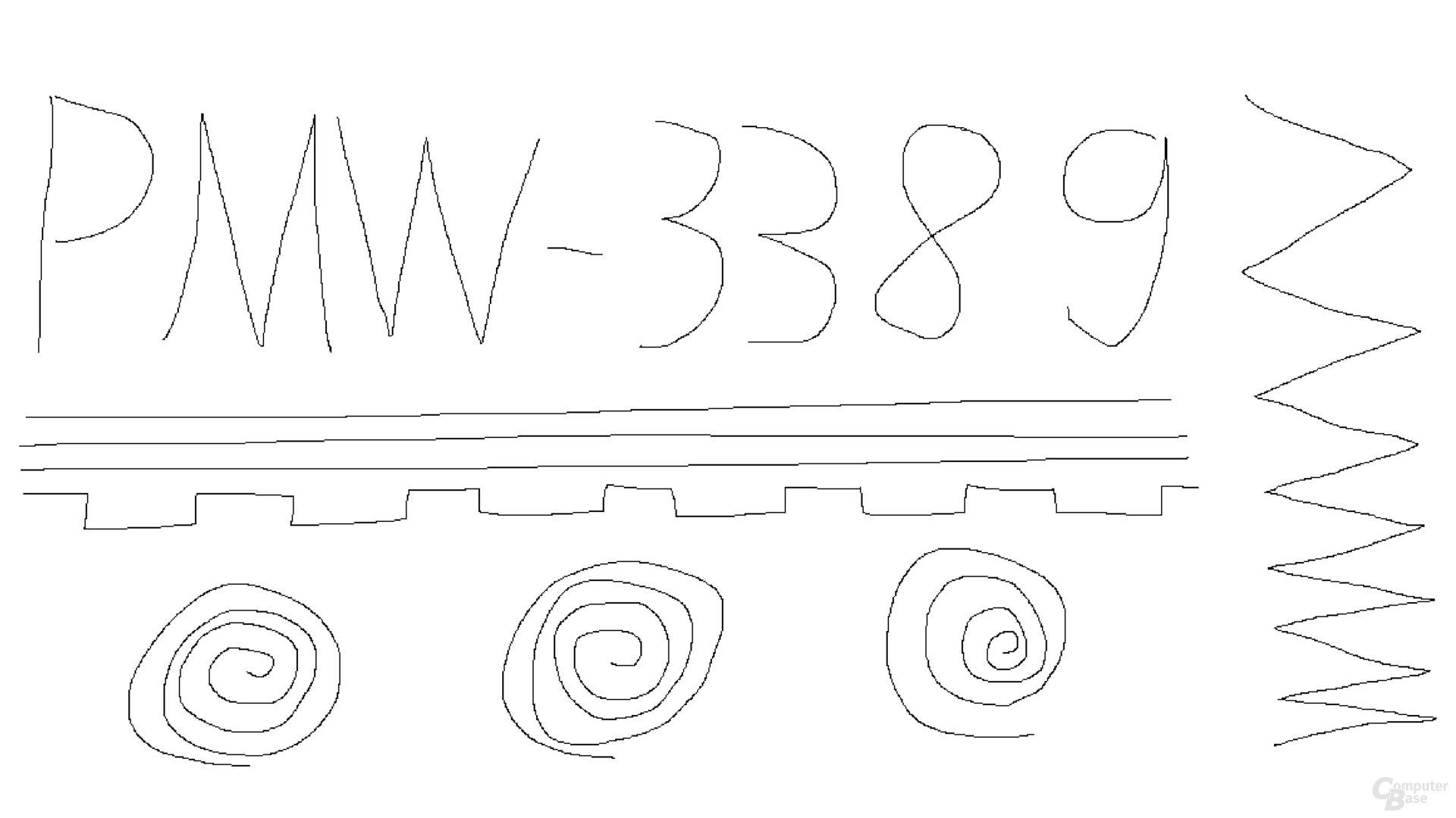 PixArt PMW-3389 (1.000 Hz, Mikrofaseruntergrund); Kringel mit 400, 1.000 und 1.600 dpi gezeichnet
