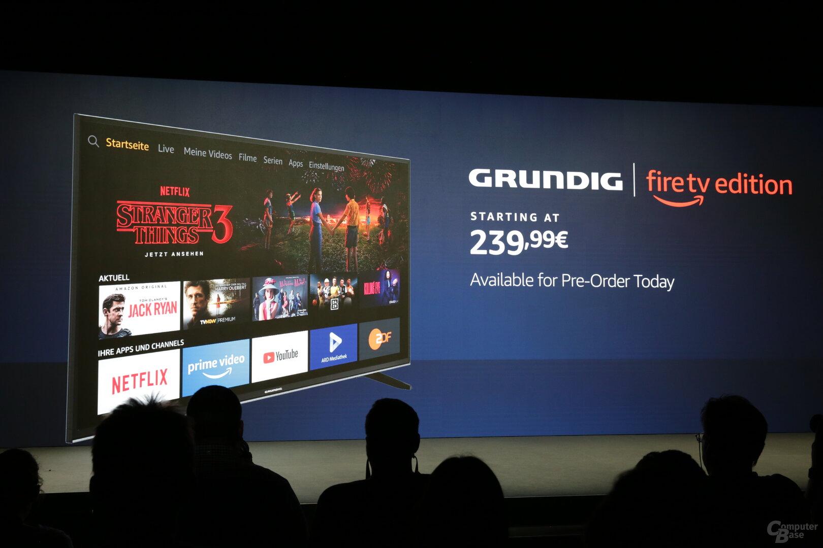Grund-Fernseher als Fire TV Edition