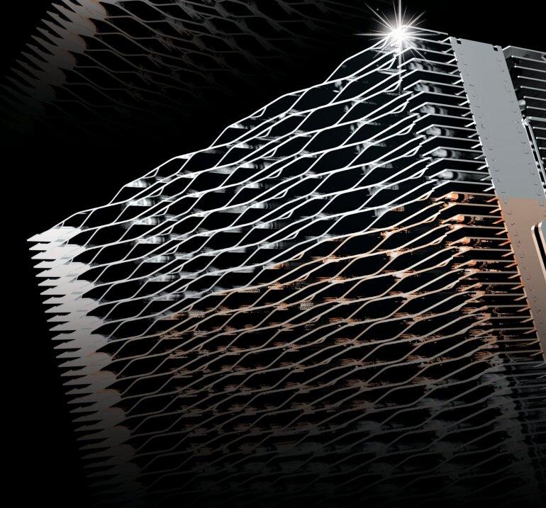 Zalman CNPS20X: Wabenförmige Lamellenstruktur des Kühlturms