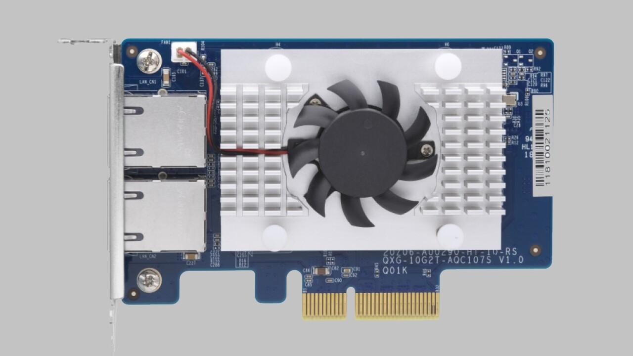 10-GbE-LAN: QNAP QXG-10G2T-107 für PCIe 2.0 x4 mit Dual-Port