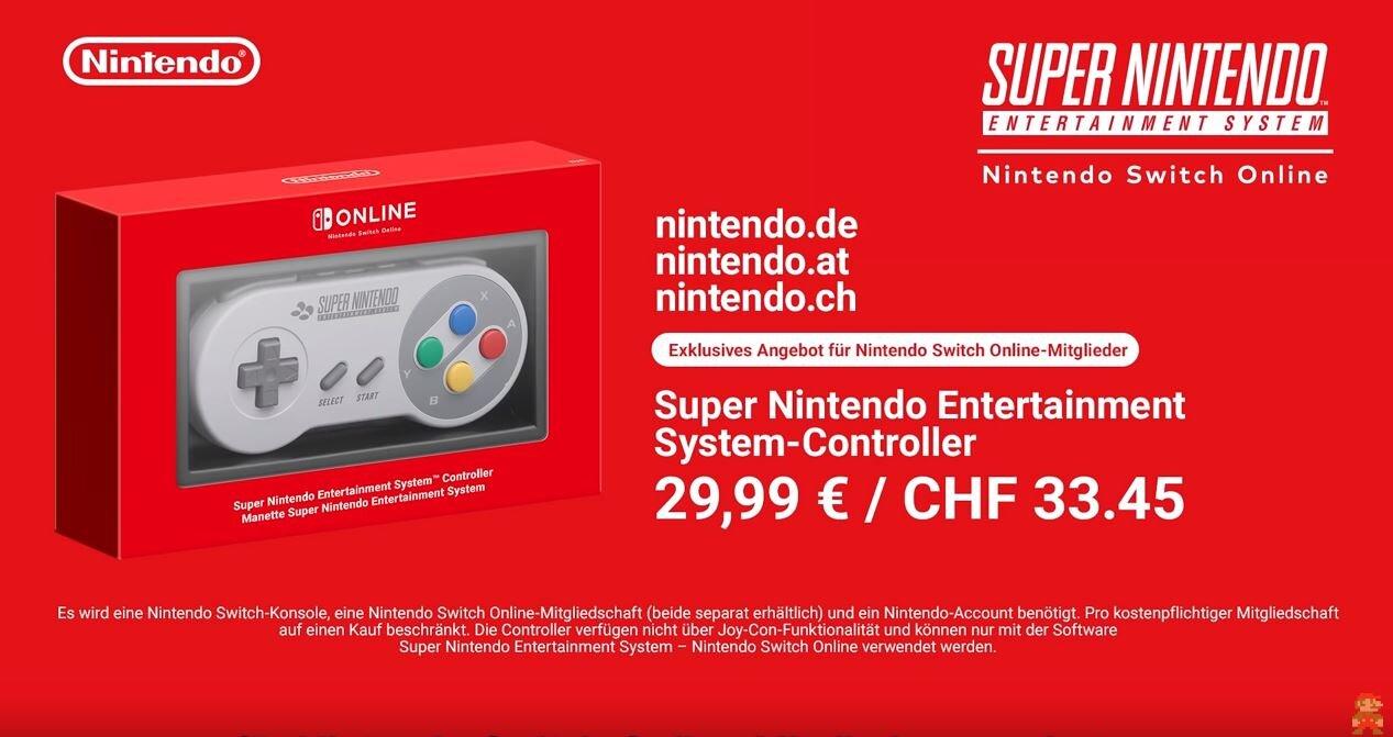 Nintendo Switch: SNES Controller