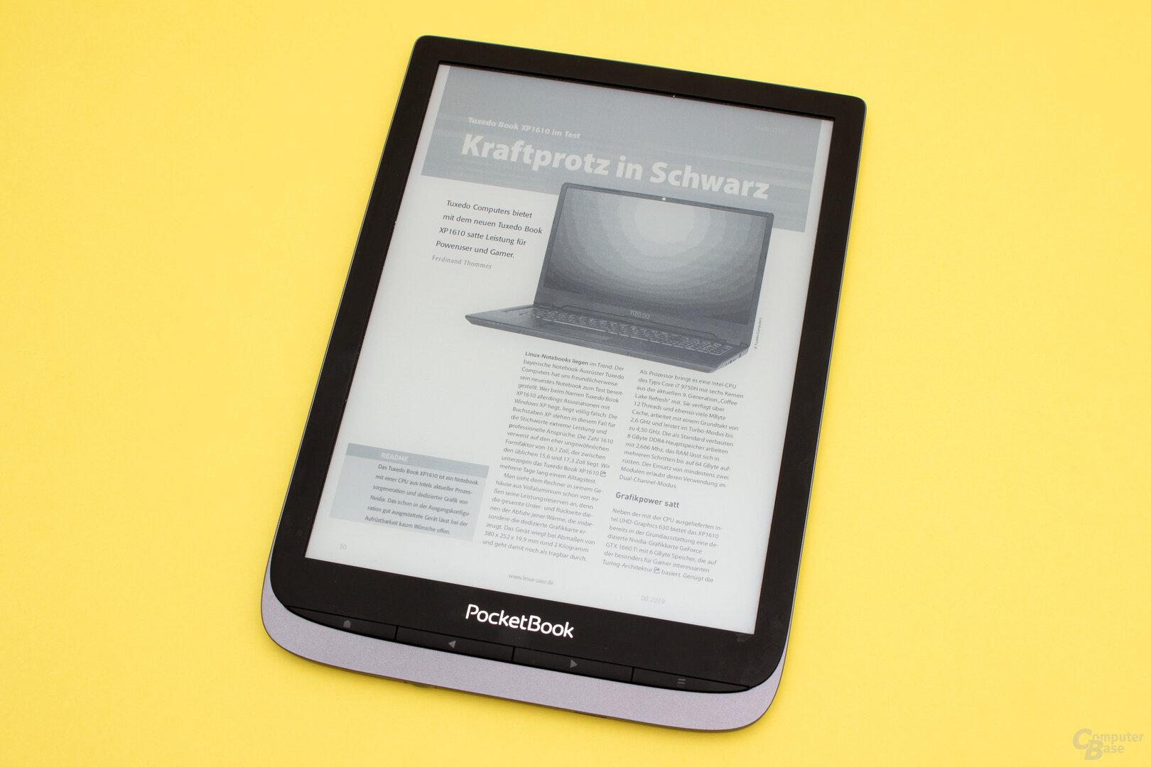 PDF-Darstellung auf dem InkPad 3 Pro