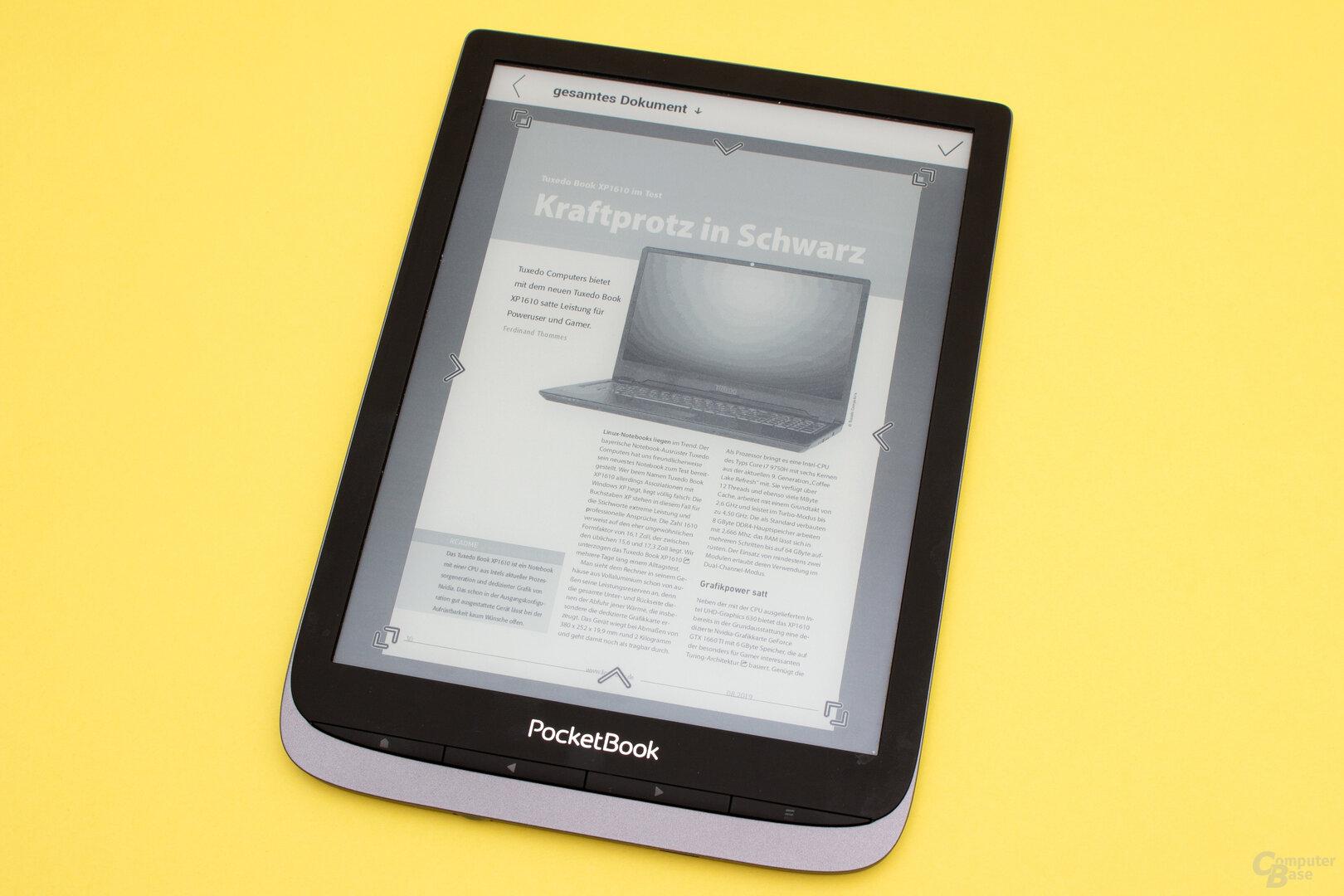 Mit der Cropp-Funktion können PDF-Dokumente oftmals größer dargestellt werden