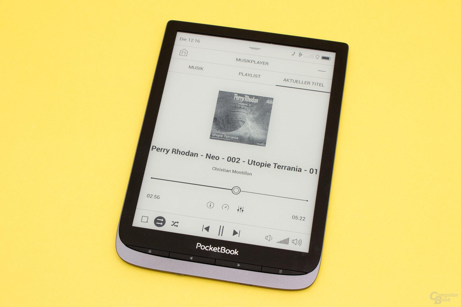 Auch der normale Audio-Player wurde aufgewertet