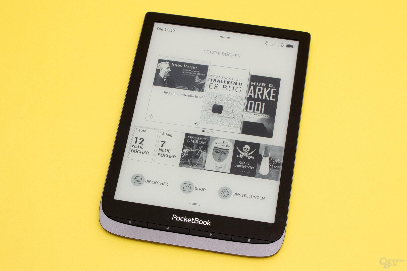 Die Startseite des InkPad Pro 3