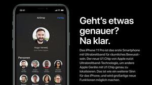 Apple U1: Neuer Chip im iPhone 11 (Pro) findet andere Geräte schneller