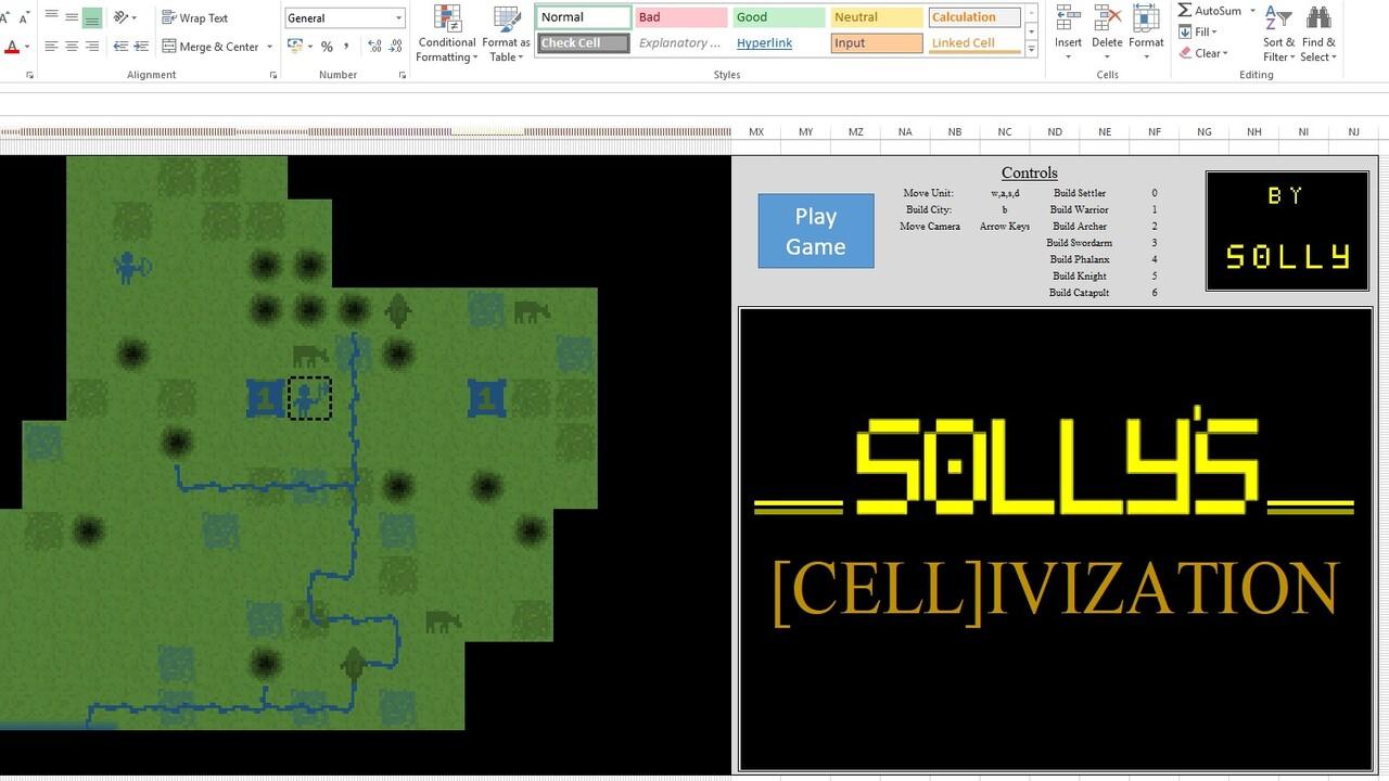 Tabellenkalkulation: Civilization kann in Excel gespielt werden