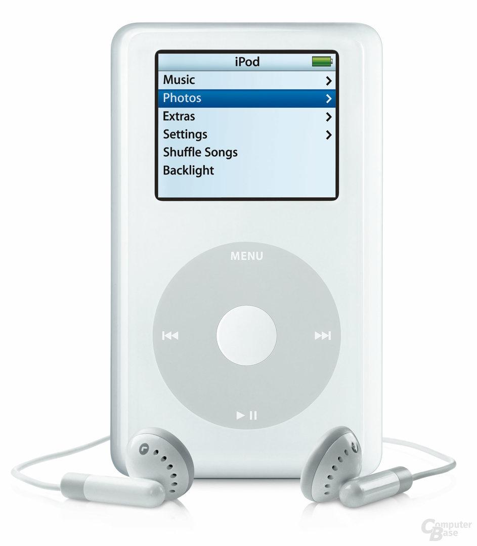 Menü des iPod Photo
