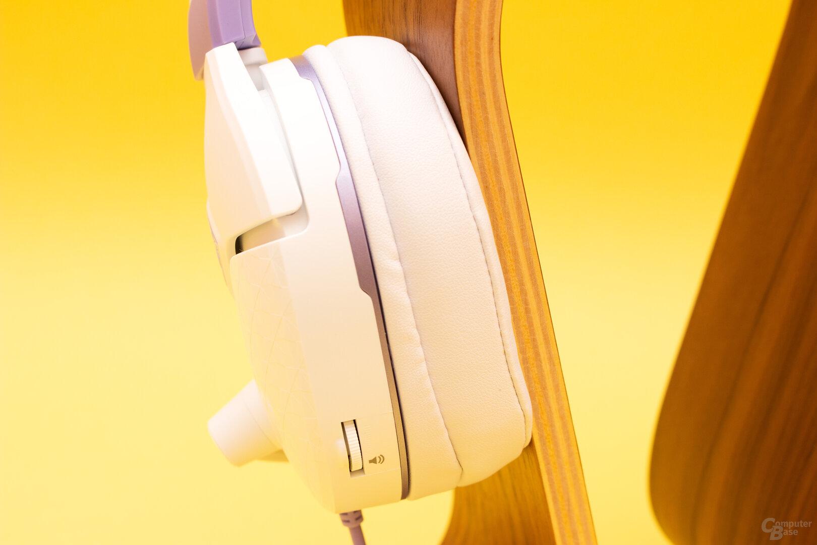 Der Lautstärkeregler als einziges Bedienelement beim Recon Spark