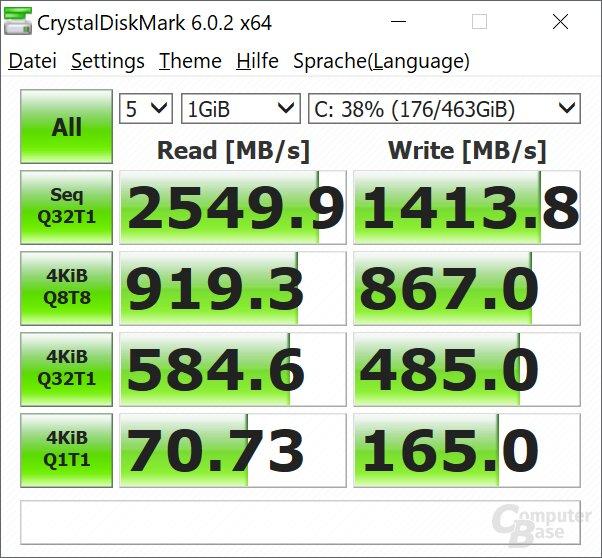 Die Intel SSD 760p ist eine NVMe-SSD mit PCIe 3.0 x4