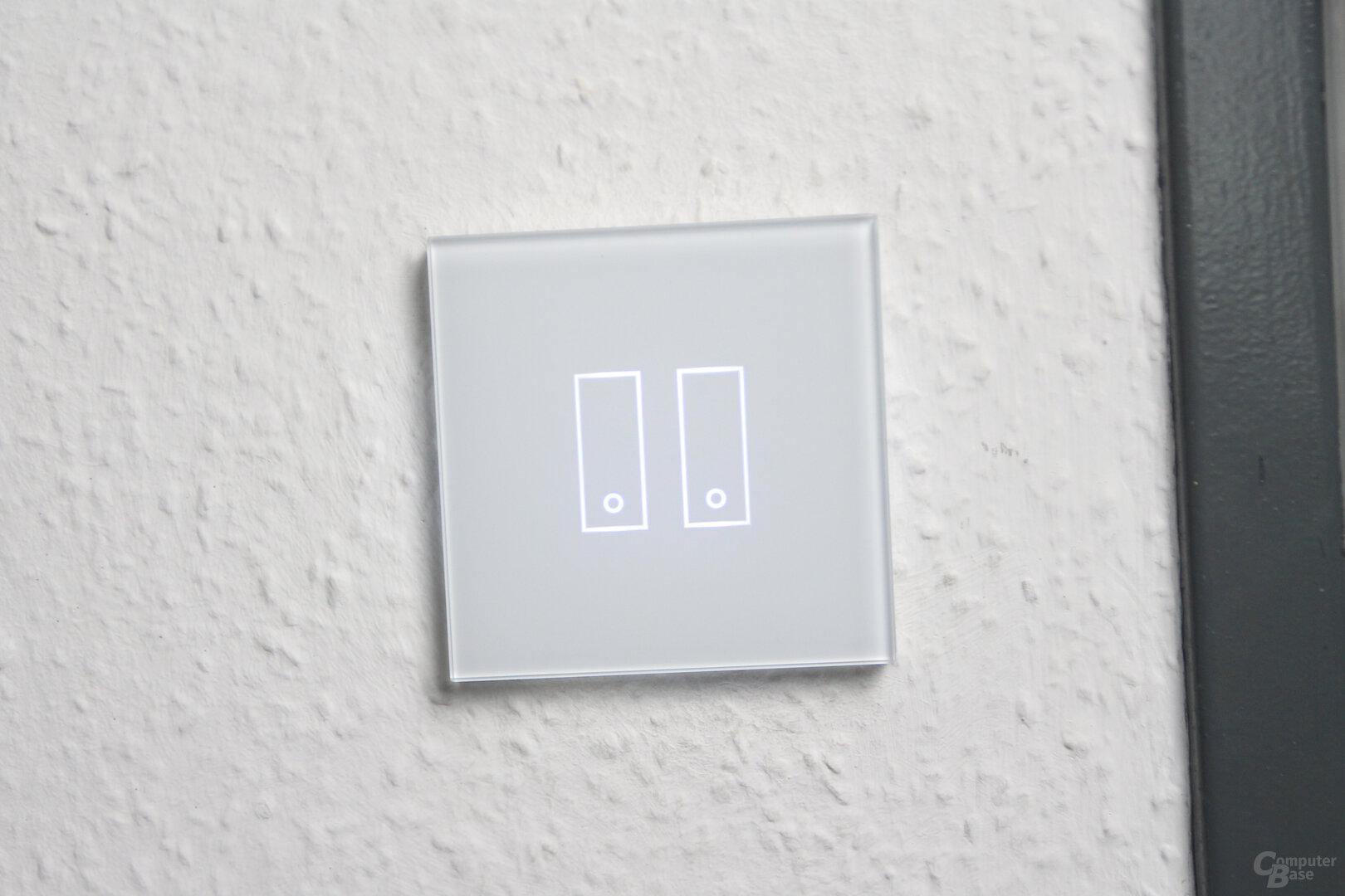 Iotty Smart Switch: Glasfront beim Doppelschalter