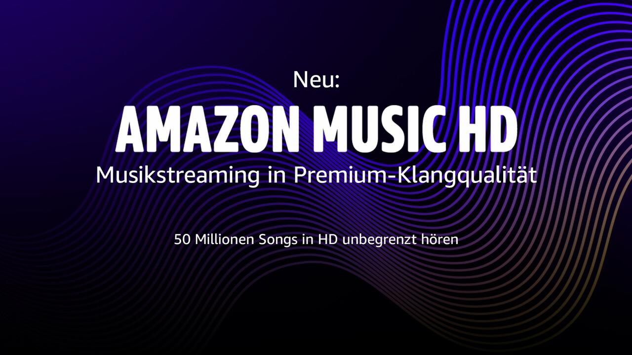 Amazon Music HD: Musikstreaming mit bis zu 24Bit bei 192kHz ab 13Euro