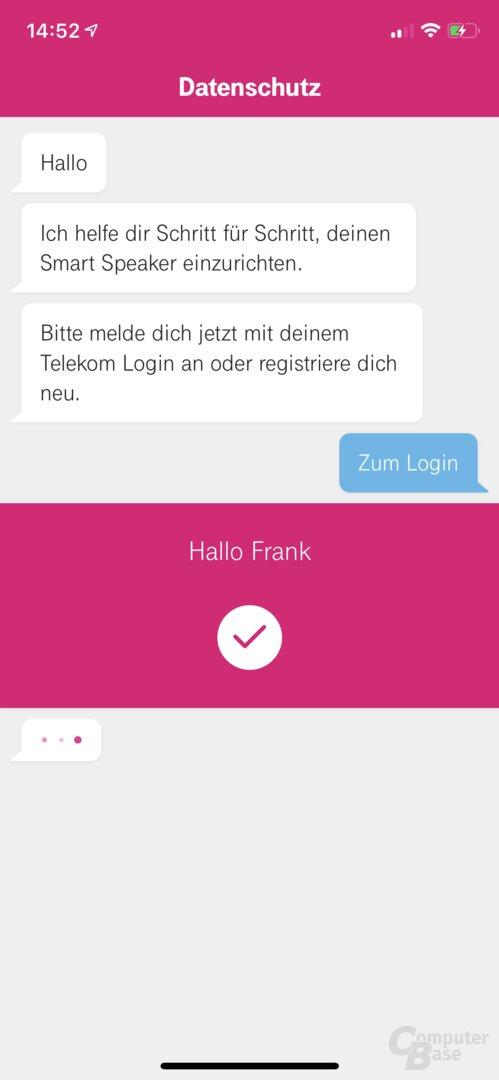 Einrichtung des Telekom Smart Speaker in der Hallo-Magenta-App