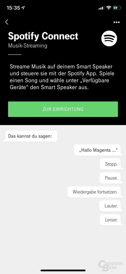 Telekom Smart Speaker: Spotify Connect
