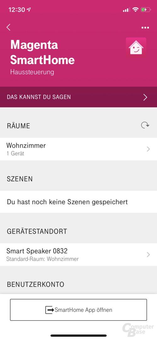 Hallo-Magenta-App: Verbindung zu Telekom SmartHome einrichten