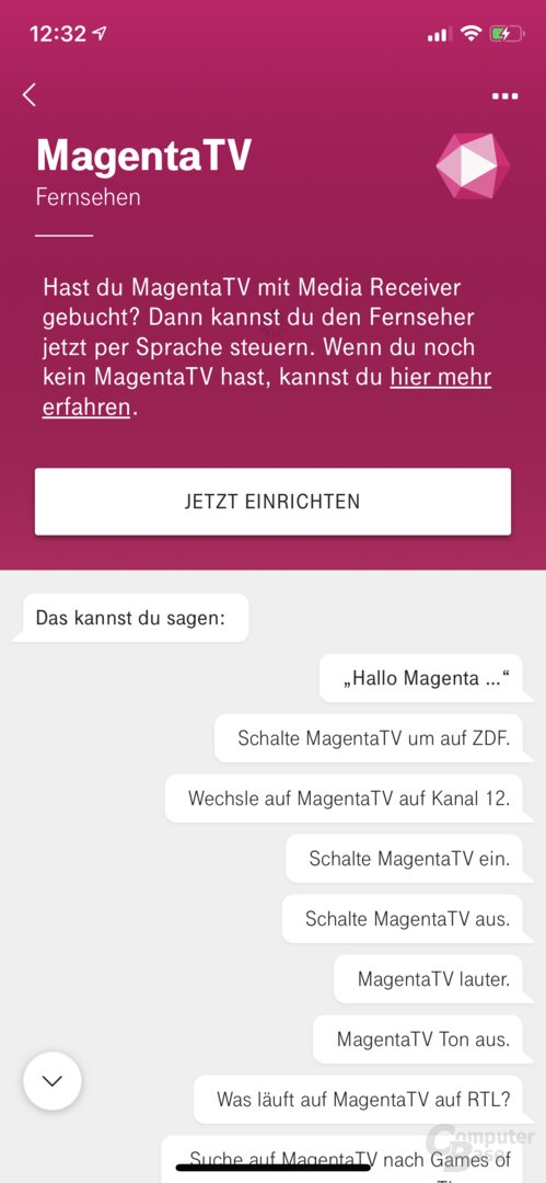 Hallo-Magenta-App: Verbindung mit MagentaTV einrichten
