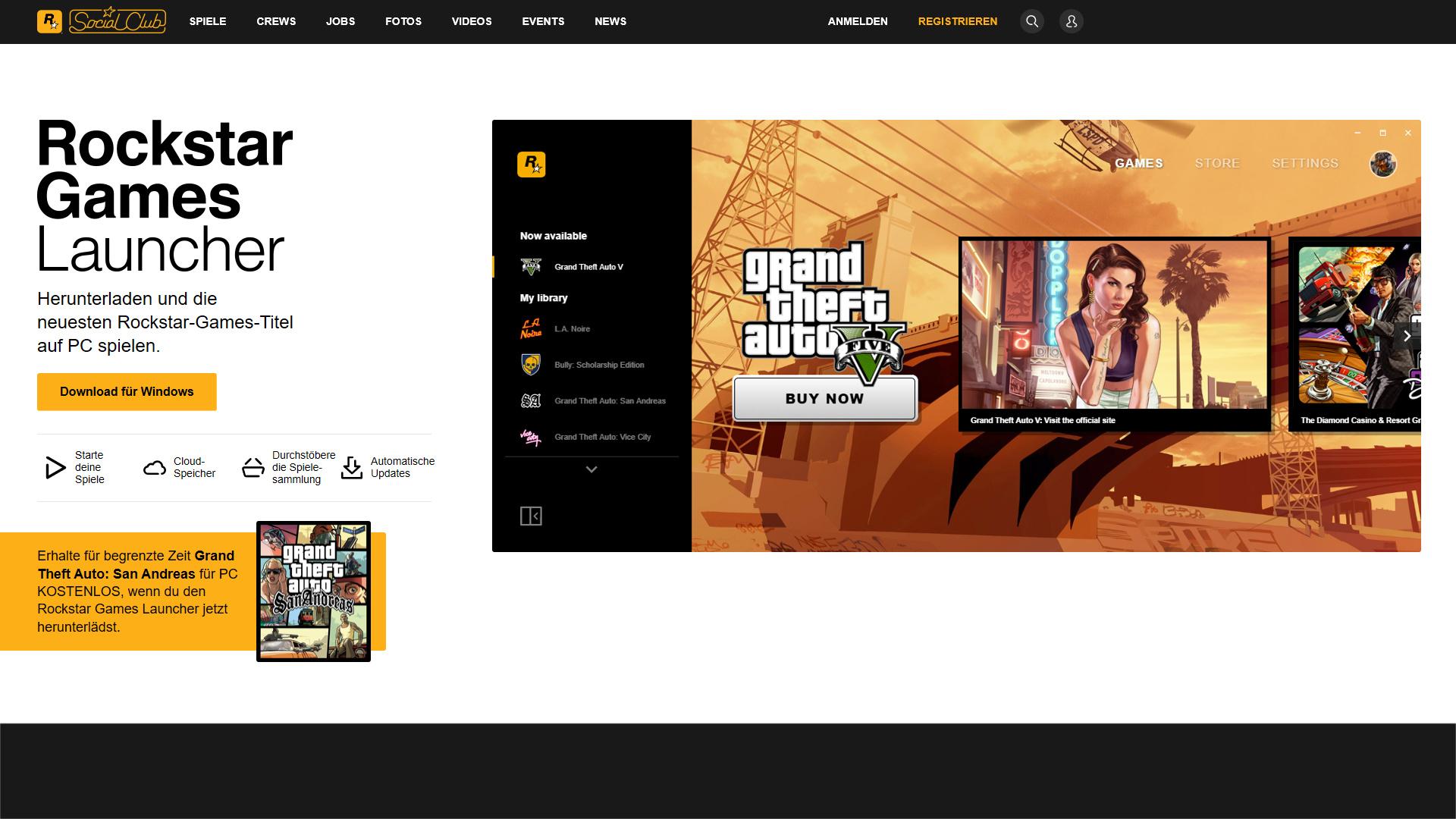 Der neue Rockstar Games Launcher