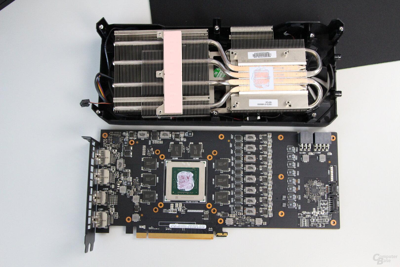 Der Kühler der Asus Radeon RX 5700 TUF