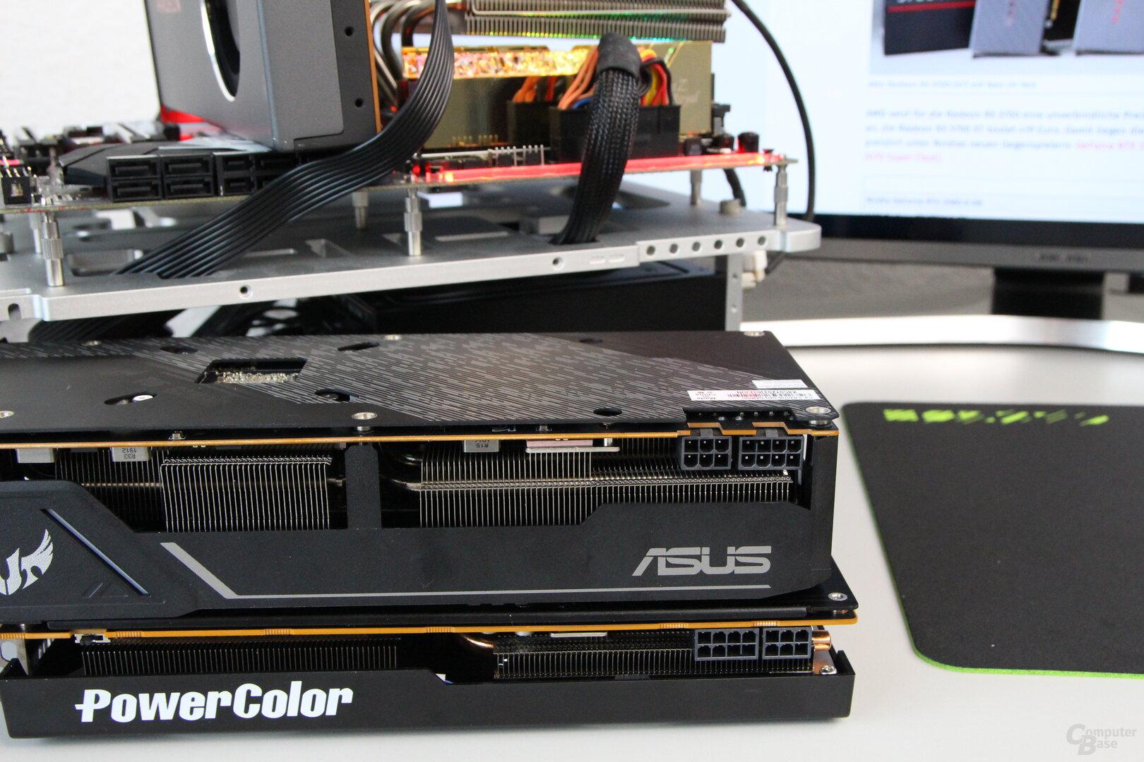 Die Asus Radeon RX 5700 TUF und PowerColor Radeon RX 5700 Red Dragon im Test