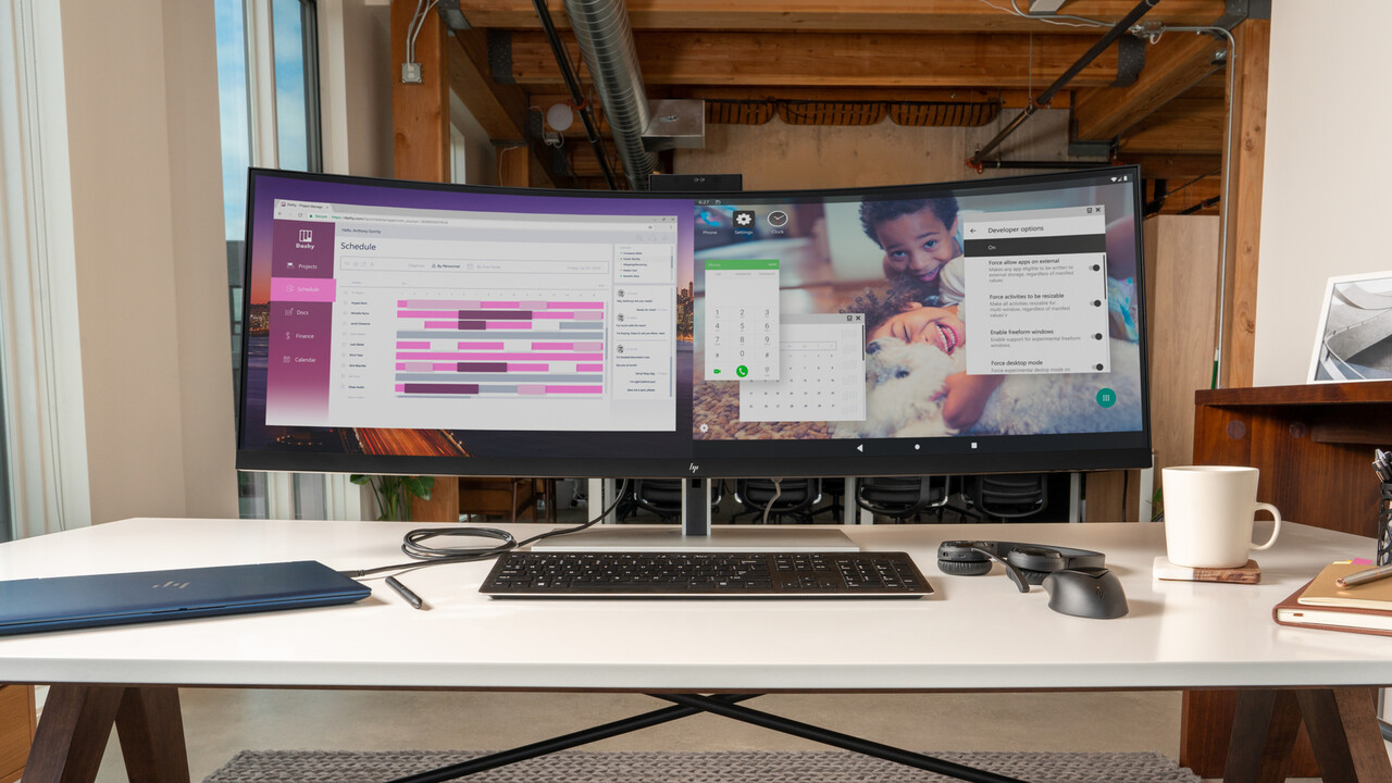E344c und S430c: HP krümmt zwei Monitore für den Einsatz im Büro