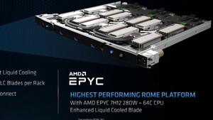 AMD Epyc 7H12: Schnellere 64-Kern-CPU mit 280 W für Supercomputer