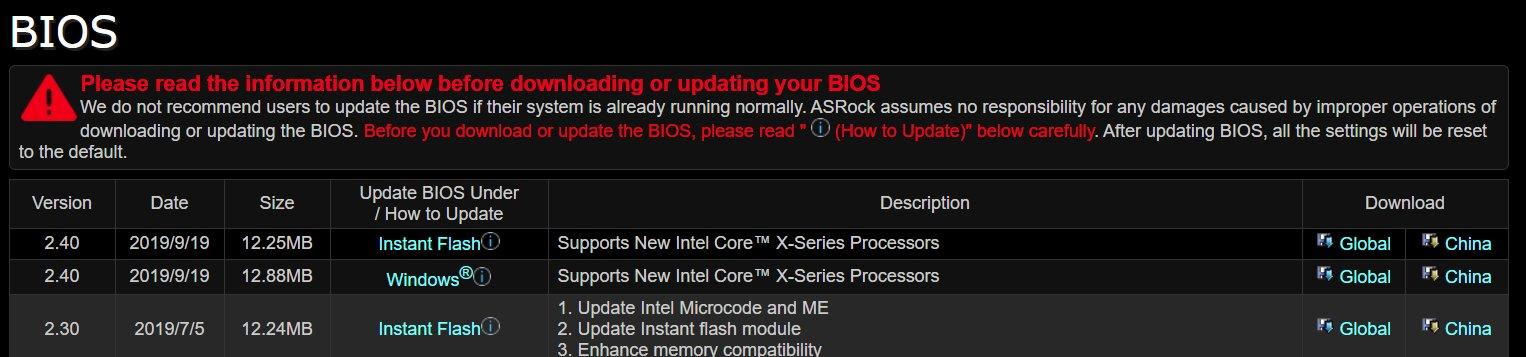 ASRock rüstet X299-Mainboards für neue Intel Core X