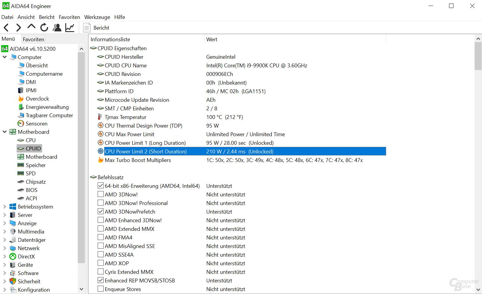 Auch der 9900K darf bis 210 Watt TDP auf Asus-Mainboards