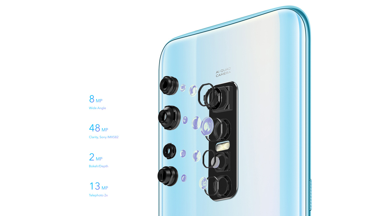 Quad-Kamera mit 48-Megapixel-Sensor vom Typ Sony IMX582