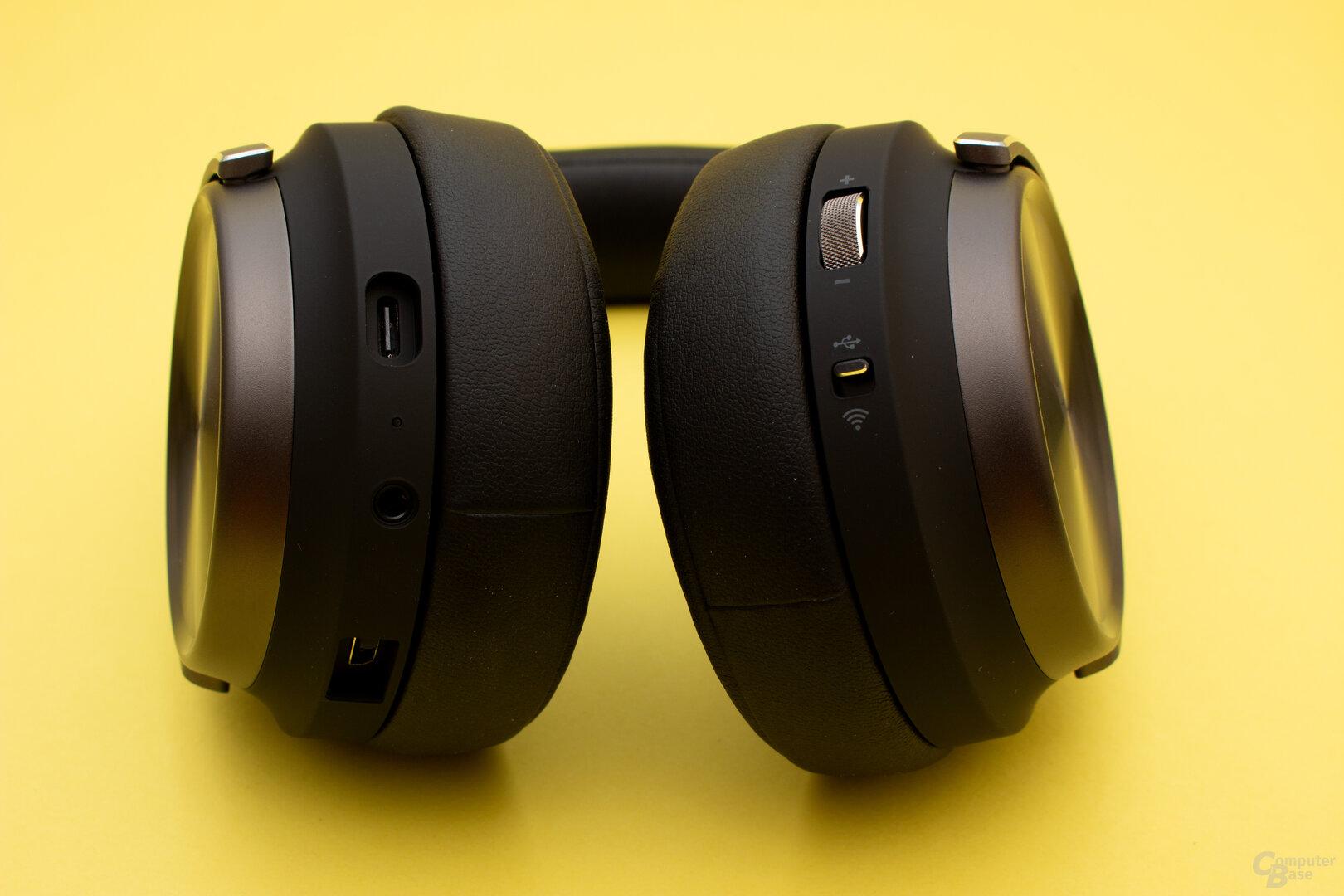 Viele Einstellungen lassen sich direkt am Headset vornehmen