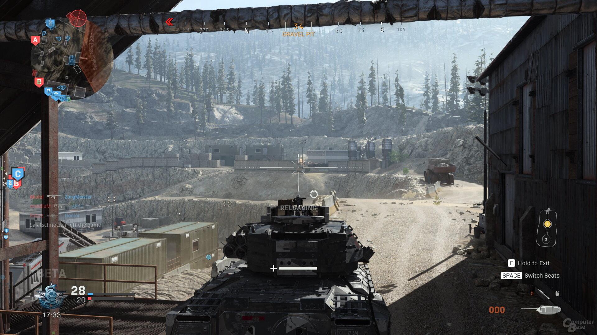 Panzer haben oft wenig Raum zu fahren