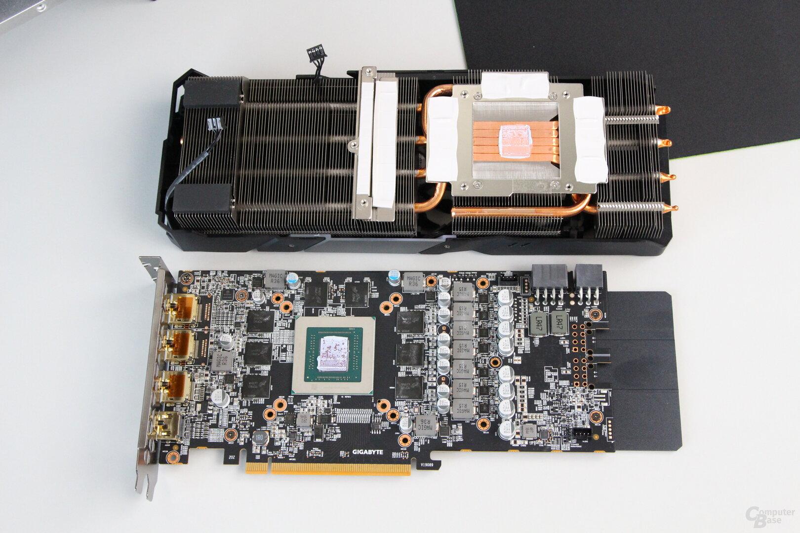 Kühler der Gigabyte Radeon RX 5700 XT Gaming OC