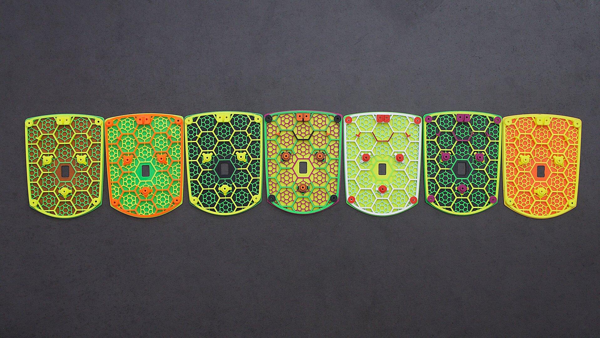 3D-gedruckte Bodenplatte variieren in der Farbgebung