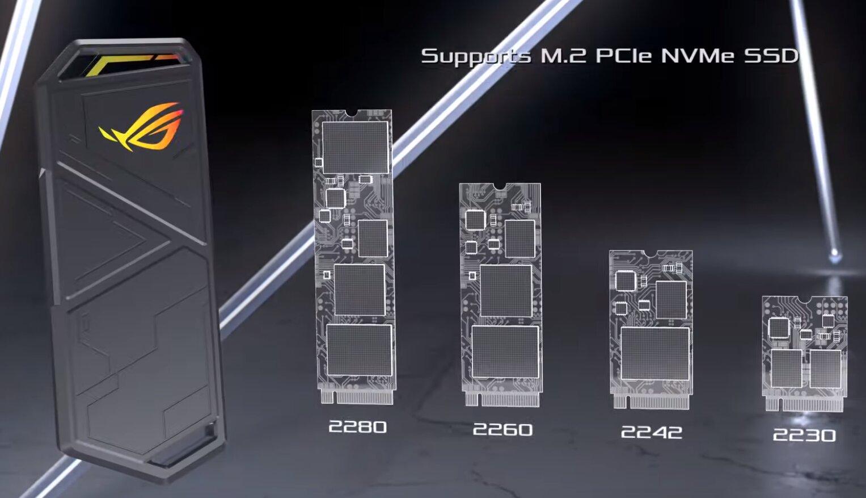 SSD-Gehäuse ROG Strix Arion mit USB 3.2 Gen 2