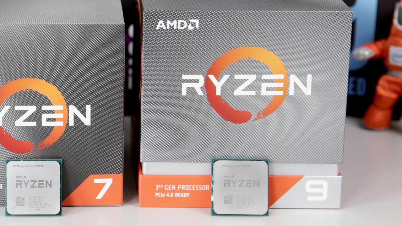 Ohne X: Hinweis auf AMD Ryzen 9 3900 mit 3,1 GHz und 65 Watt