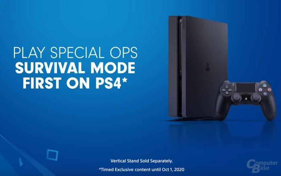 Laut Trailer kann der Survival-Modus ein Jahr lang nur auf einer PS4 gespielt werden