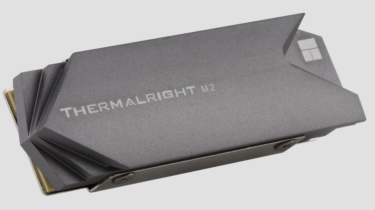 TR-M.2 2280: Thermalright kühlt einseitige M.2-SSDs beidseitig