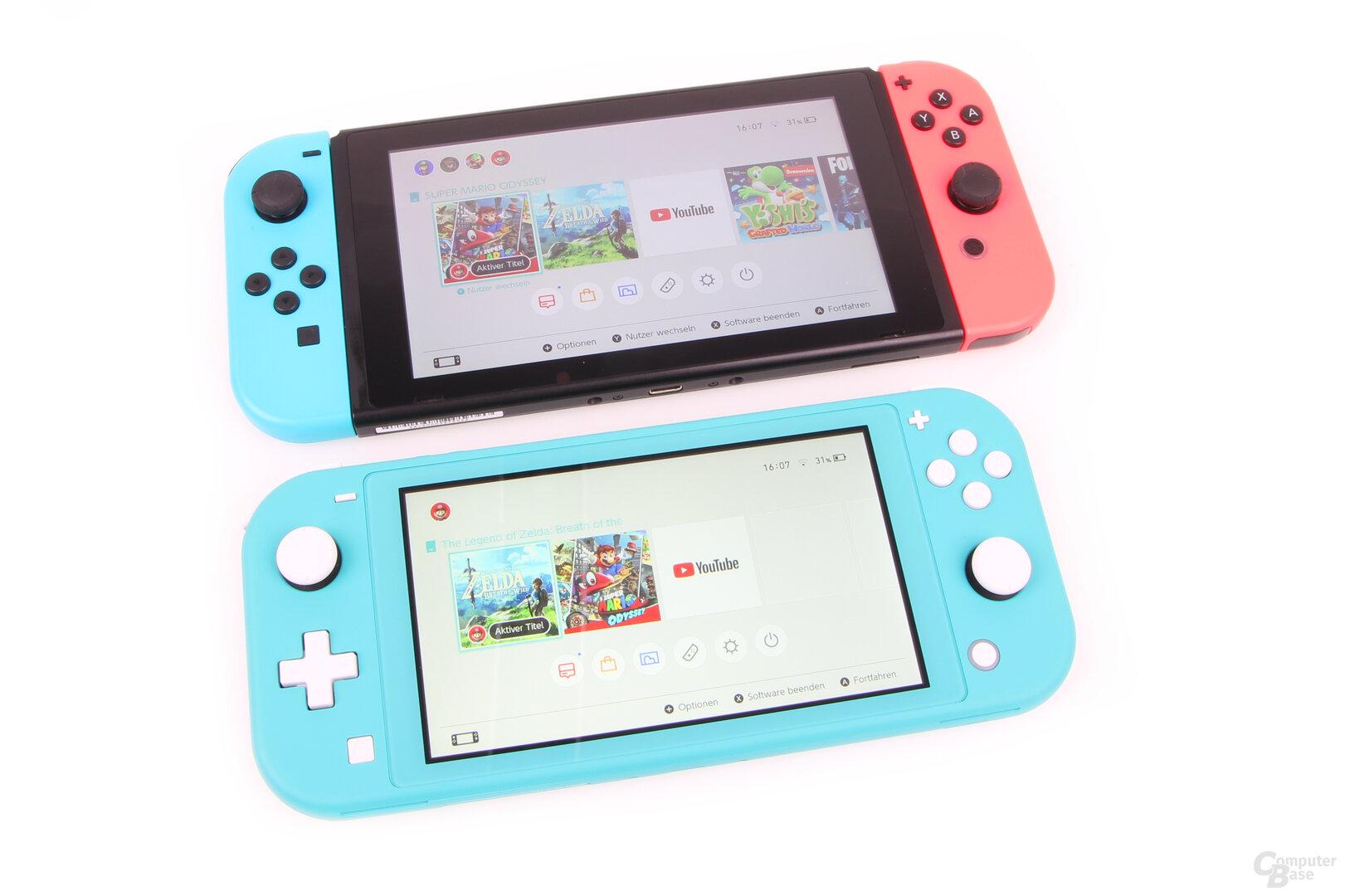 Nintendo Switch Lite: Spielkarten werden eingeschoben