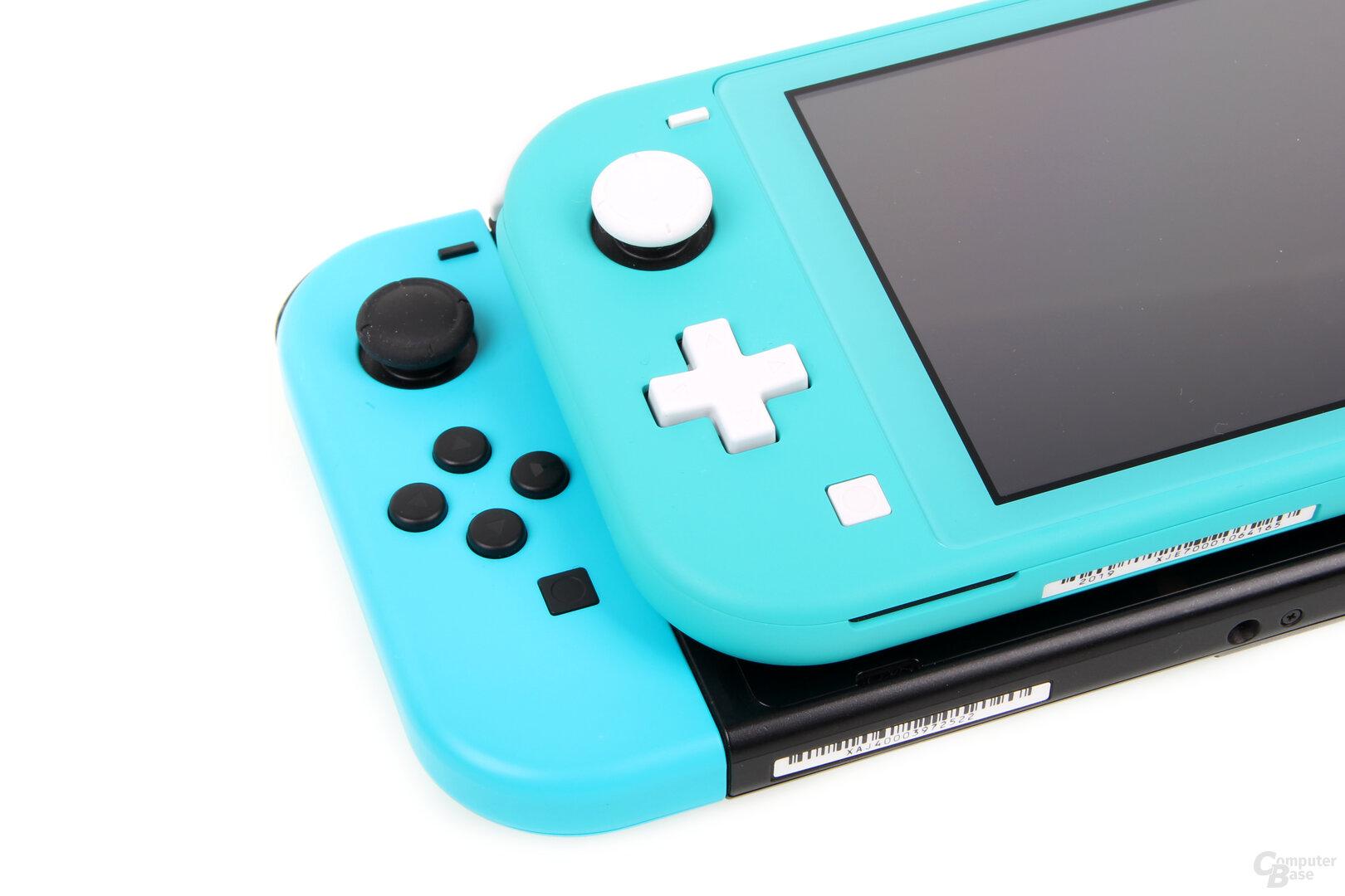Nintendo Switch Lite und Switch im Vergleich