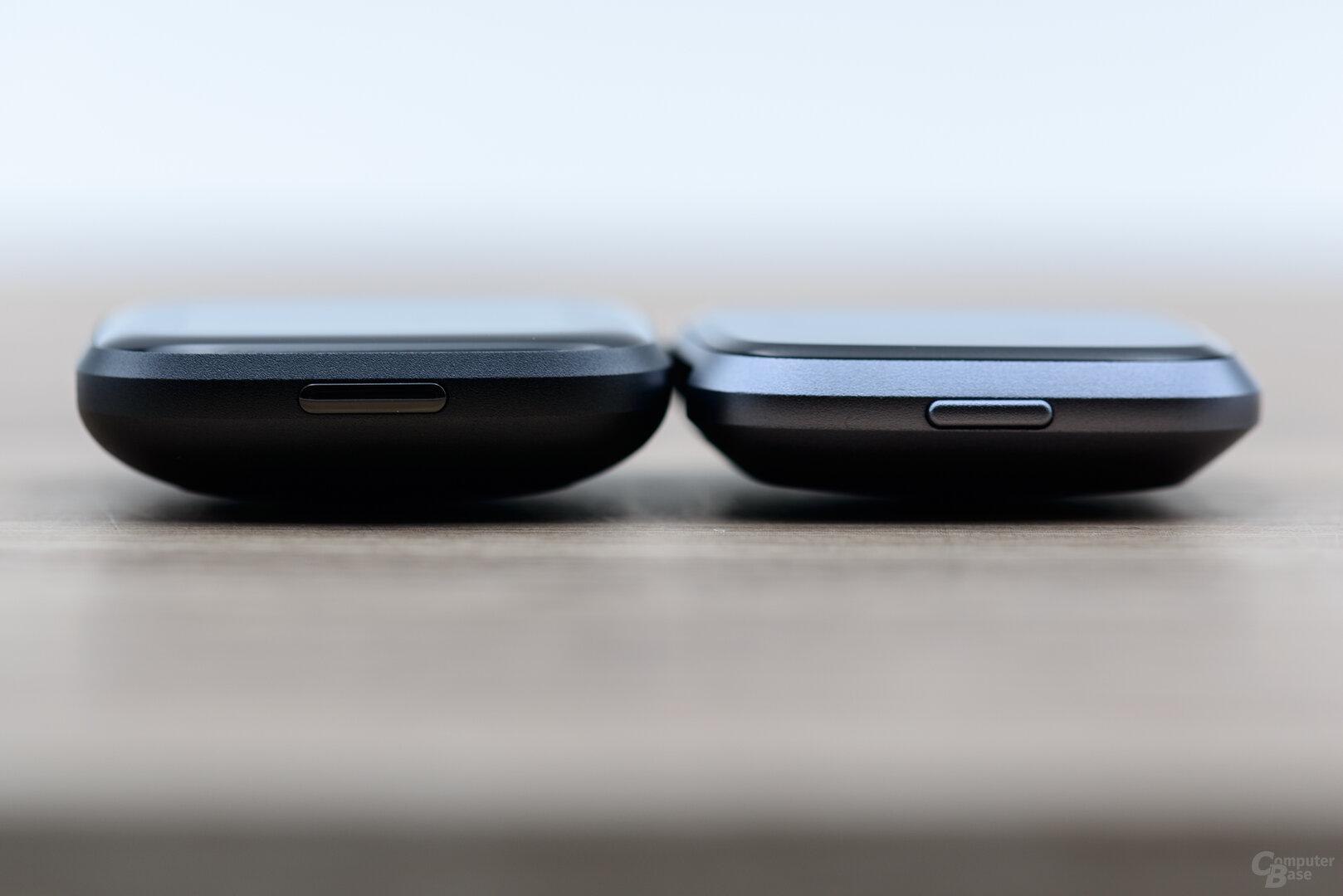 Fitbit Versa 2 und Versa: Höhenvergleich