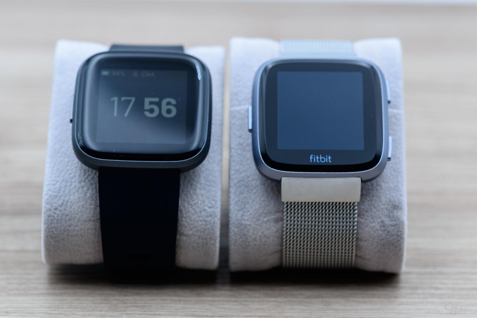 Fitbit Versa 2 und Versa im Vergleich
