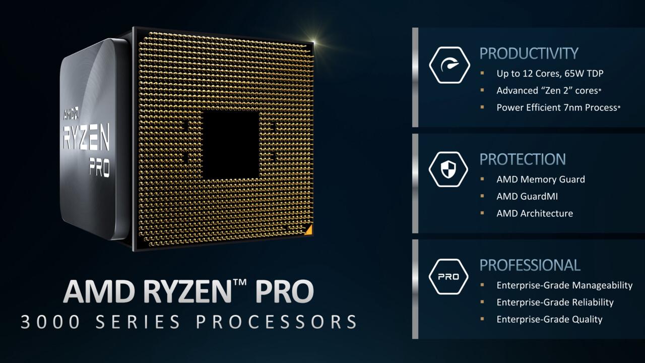 Ryzen Pro 3000: AMD bringt Matisse-CPU und Picasso-APU für Unternehmen