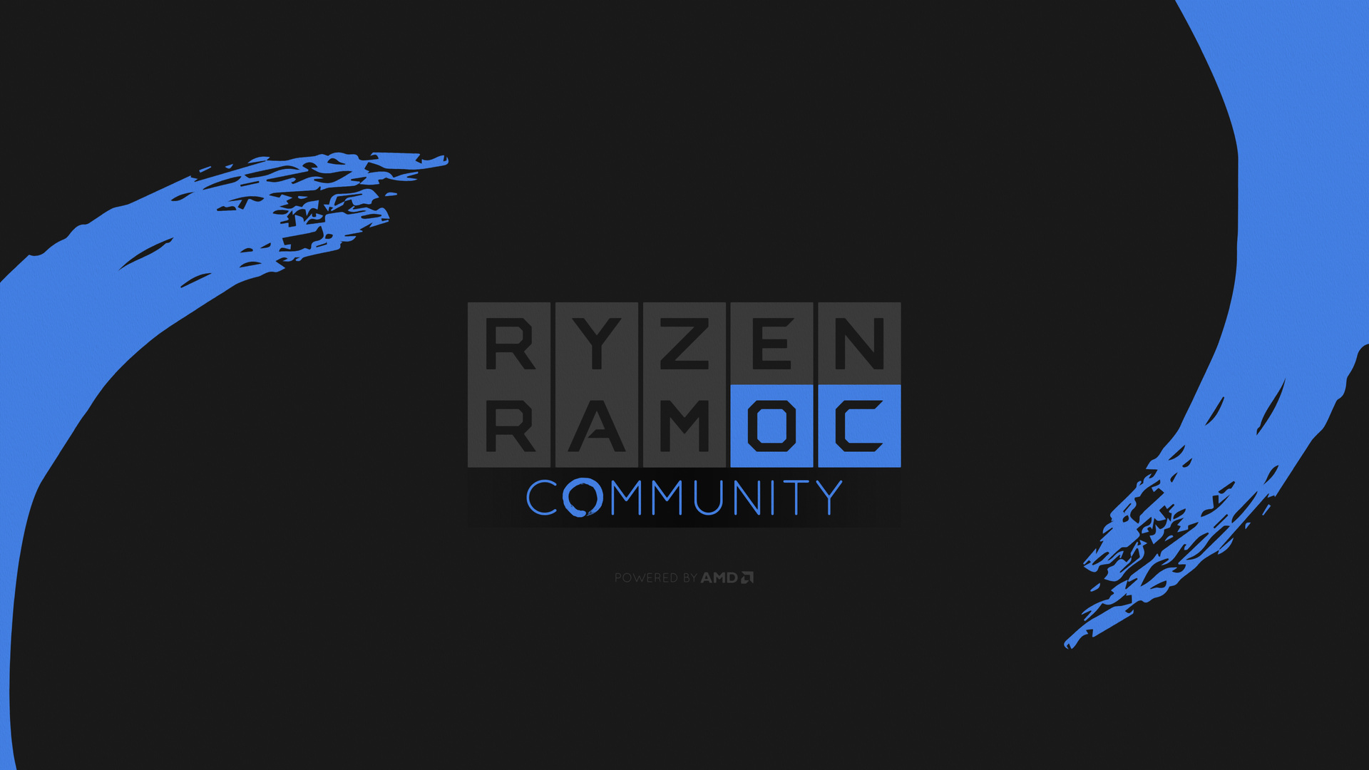 AMD Ryzen RAM OC Community Wallpaper in einer der fünf Farben