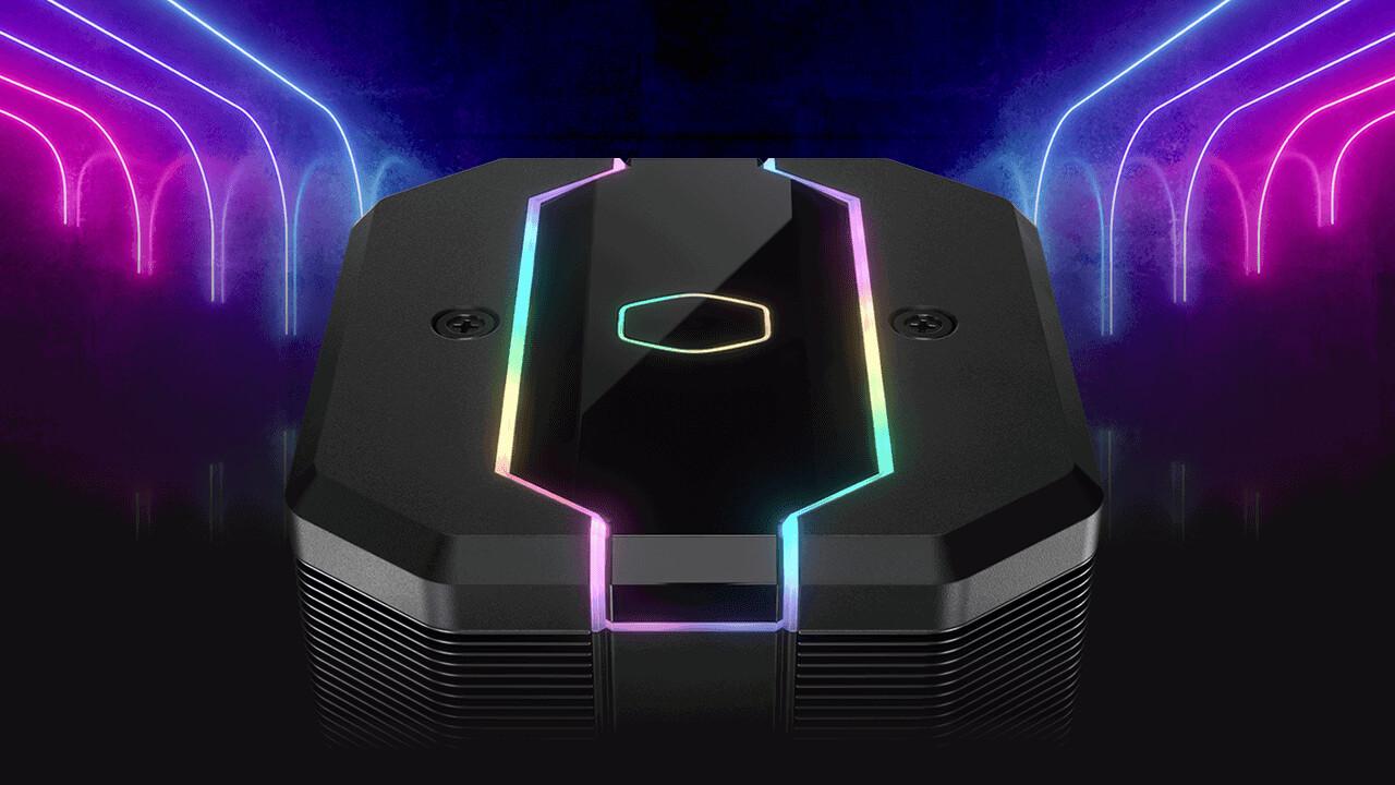 Cooler Master MA620M: Twin-Tower-Kühler leuchtet mit RGB-Haube