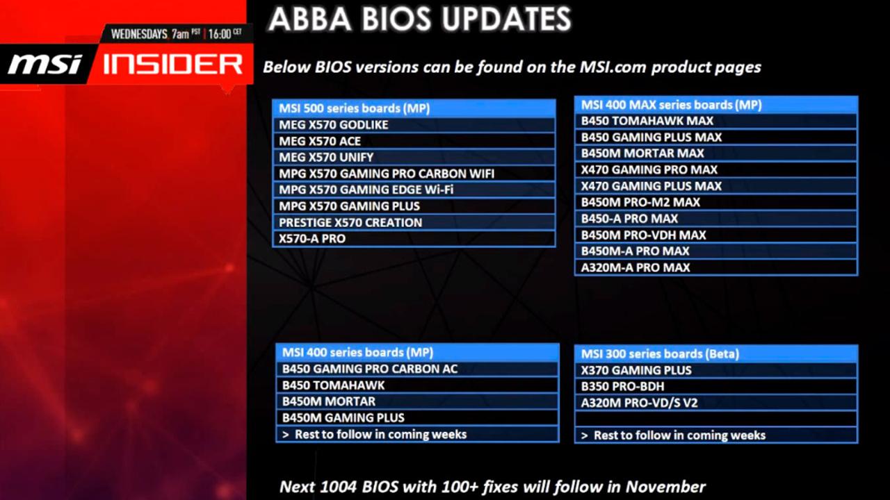 AGESA 1.0.0.4 soll im November erscheinen und über einhundert Verbesserungen bieten