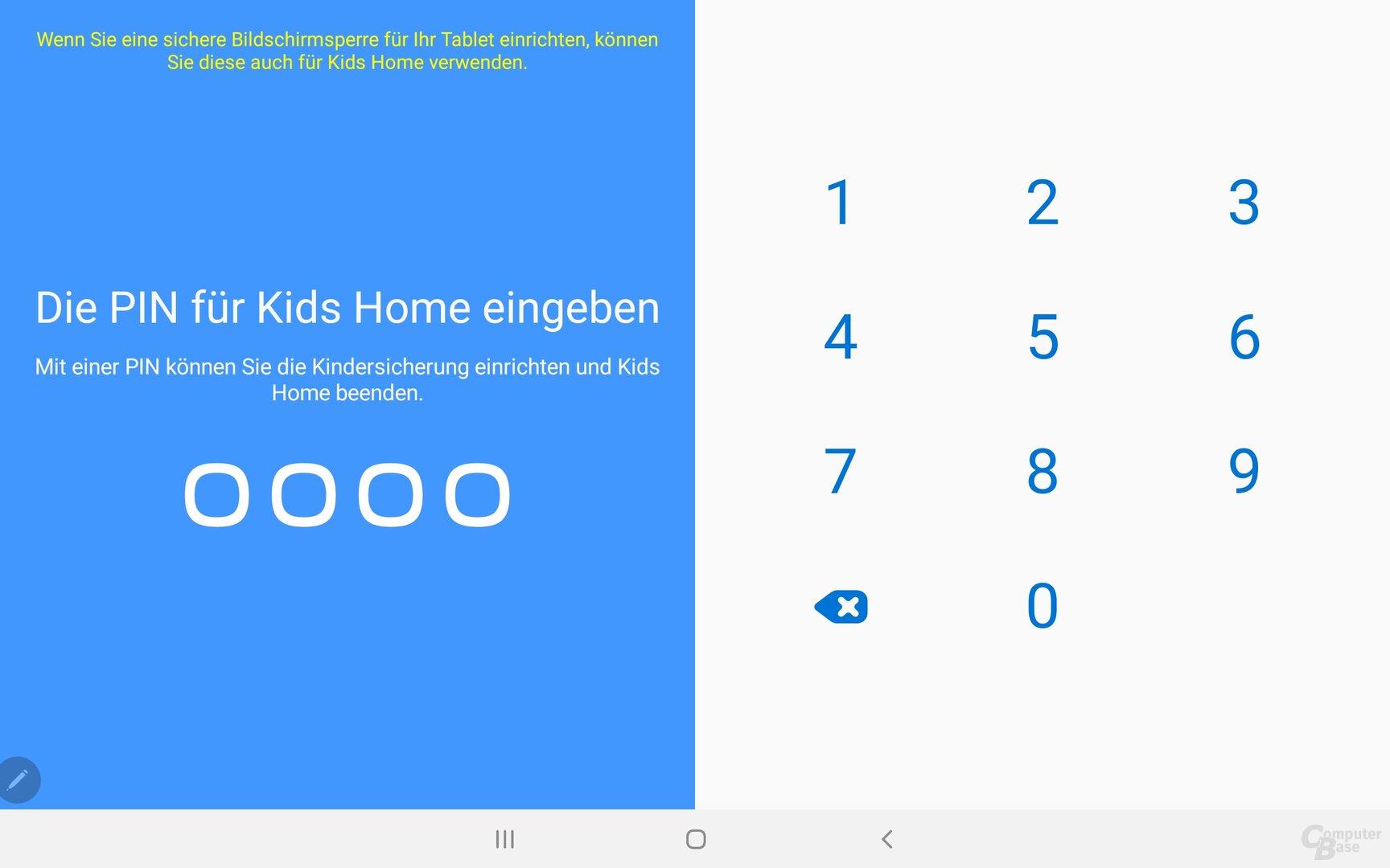 Das Galaxy Tab S6 hält auch einen abgesicherten Kinderbereich vor