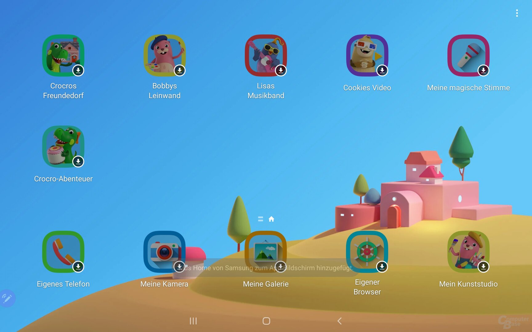 """Kids Home"" mit vorinstallierten Apps"