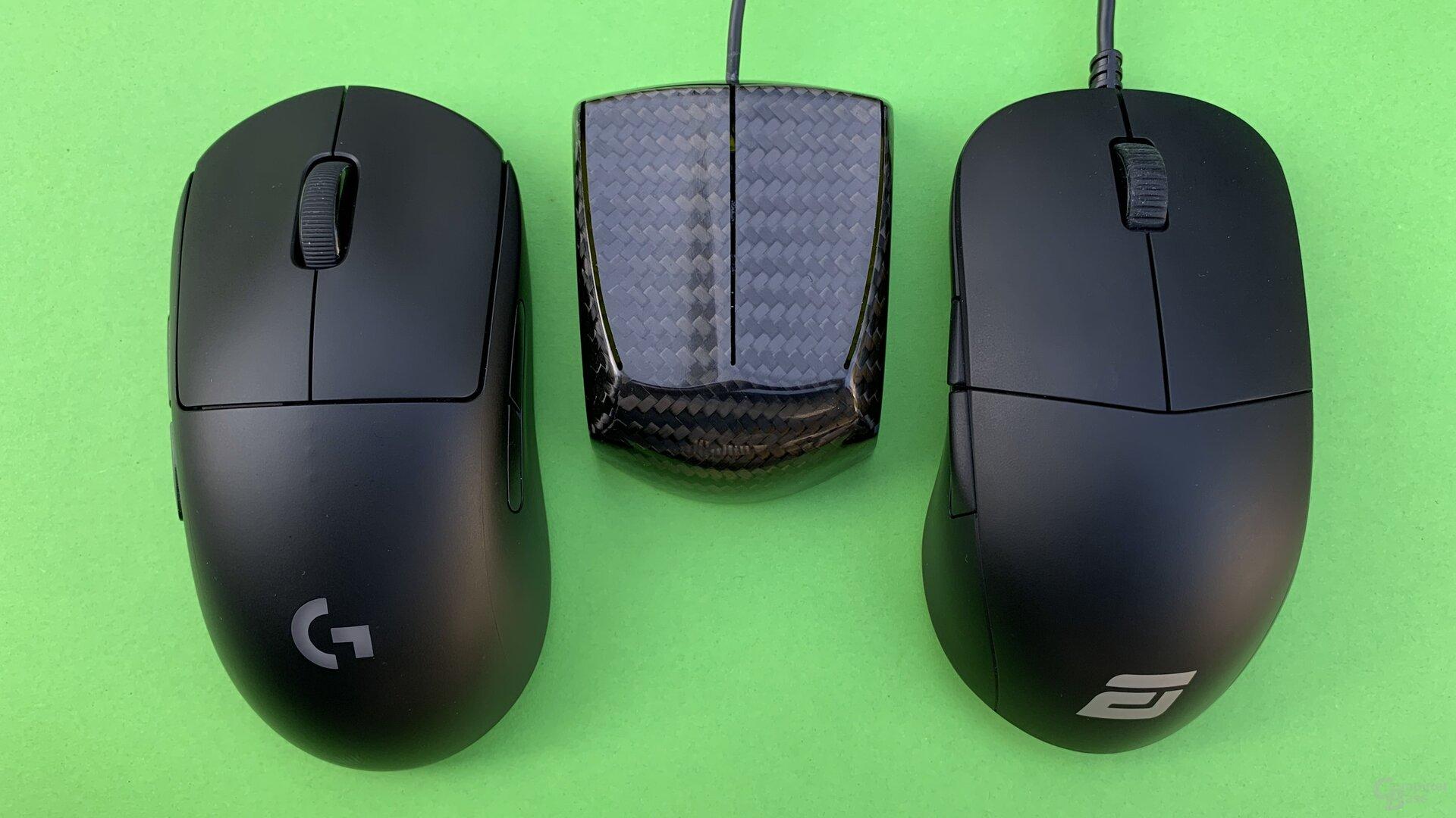 Logitech G Pro Wireless, Zaunkoenig M1K & Endgame Gear XM1