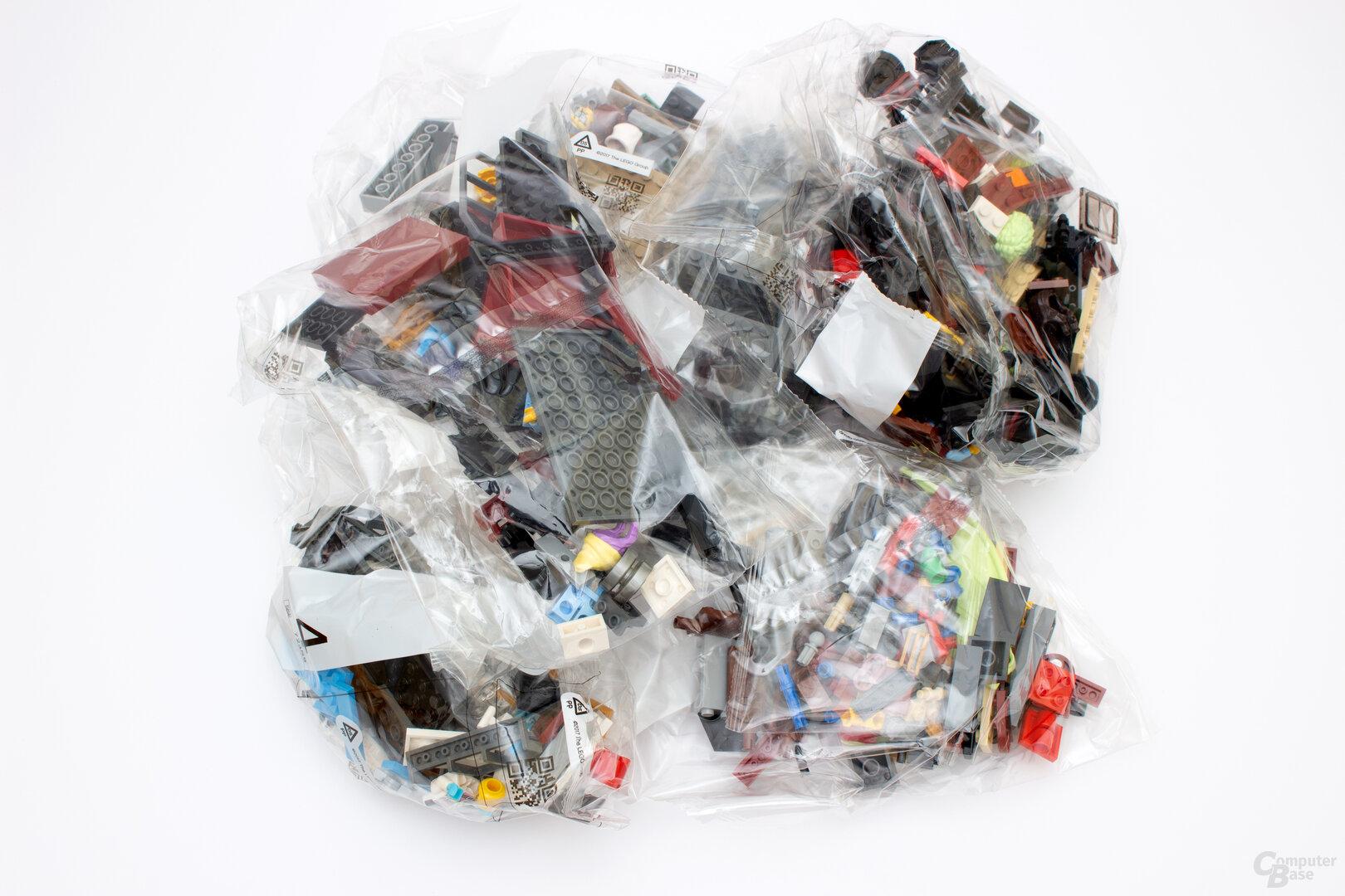 Viele Tüten bedeuten viel Abfall